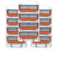 12pcs/lot Razor Blade For Men Shaving Blades Safety Blades Cassette Shaver Suit For Gillette Fusion proglide