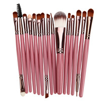 15Pcs Makeup Brushes Set Foundation Powder Blush Eyebrow Eyeshadow Eyeliner Contour Concealer Highlighter Lip Blending Brush Kit