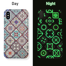 FQYANG Luminous Case For Iphone X XR XS MAX Retro Marble Case For Iphone 6 Plus 7 Plus 8 Plus Hard PC Case Protective Back Cover