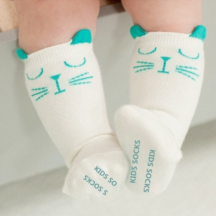 Newborn Toddler knee-high sock Baby Boy Girl knee Socks anti slip Cute Cartoon Cat Skid Resistance leg warmers for 0-2Y 2-4Year