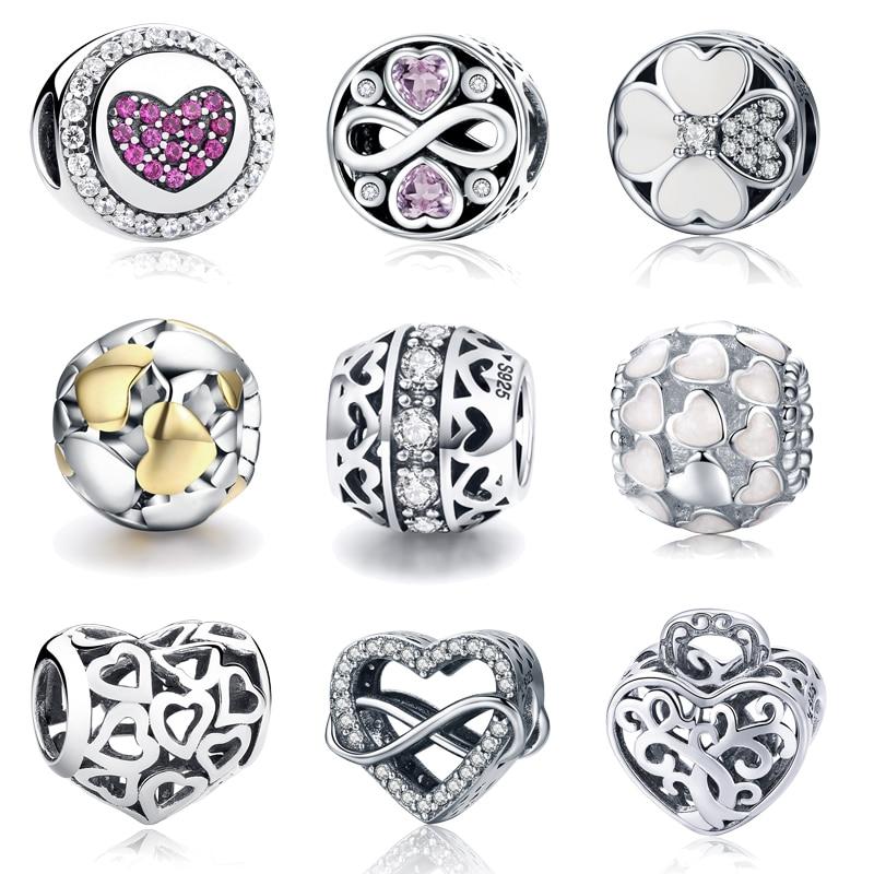 2018 New 100% 925 Sterling Silver Abundance Of Love Charm Beads Fit Original pandora Bracelet Bangle Authentic Jewelry Gift