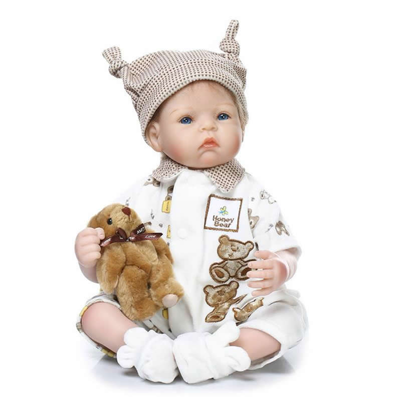 20 Inch Reborn Realistic Boy Babies Doll Lifelike Silicone Soft Newborn Dolls With Handmade Clothes Kids Birthday Christmas Gift can sit and lie 22 inch reborn baby doll realistic lifelike silicone newborn babies with pink dress kids birthday christmas gift