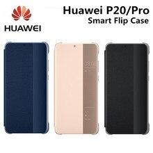 Марка Официальный чехол для Huawei P20/P20 Pro Smart флип чехол для Huawei P20/Pro оригинальное зеркало окно сна проснуться флип-чехол