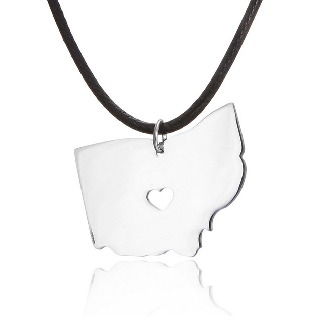 Stainless steel ohio state necklace state columbus north america stainless steel ohio state necklace state columbus north america necklaces pendants choker necklace women aloadofball Gallery