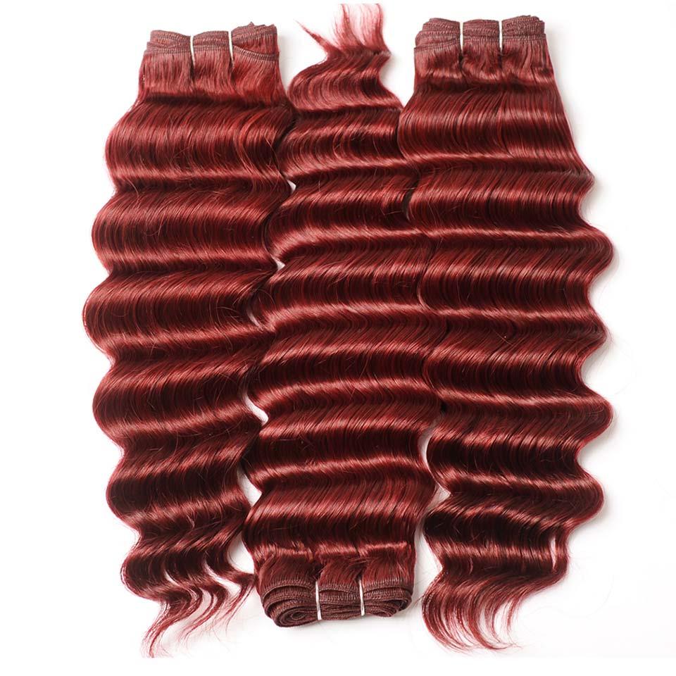 Бордовый 99J индийские волосы 3 Комплект S с Синтетическое закрытие волос смелый красный Человеческие волосы с средней части Синтетическое з...