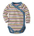 Niños bebé ropa de niña. bebes bebé traje de manga larga con rayas 5 colores clothing, 2017 Nuevo modelo de bebé traje de monje