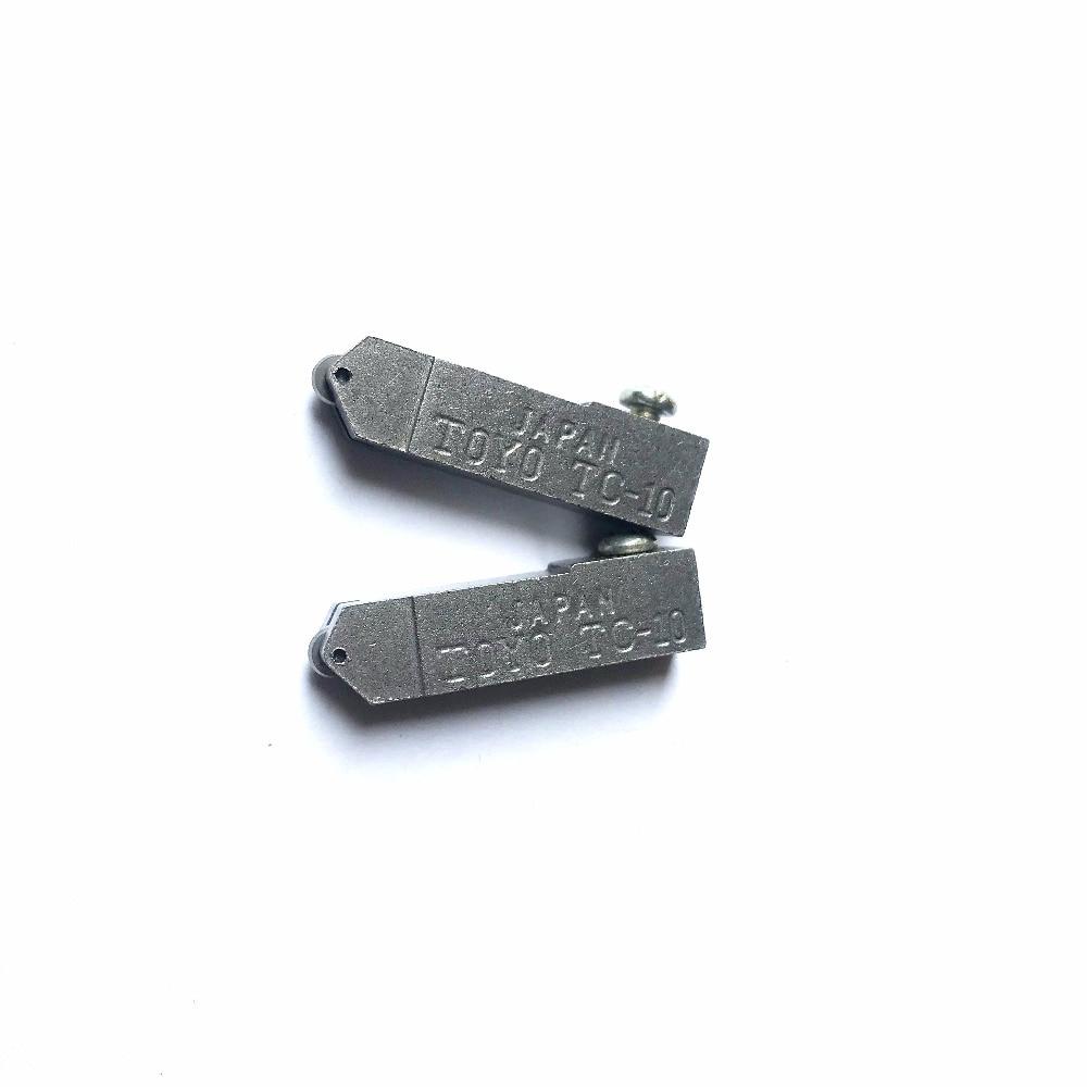 TC-17B Oil Glass Cutter Metal Handle Diamond Straight Head Cutting Tool 6pcs