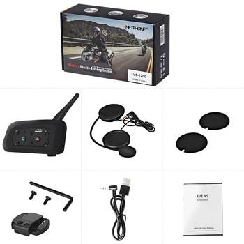Top Quality Motorcycle Intercom 1200m Wireless Bluetooth Helmet Headsets Interphone for 6 riders Motorcycel Helmet Intercom New
