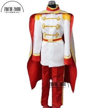 New Arrival Custom Made Adult Prince Charming Cosplay Costume from Cinderella Free Shipping
