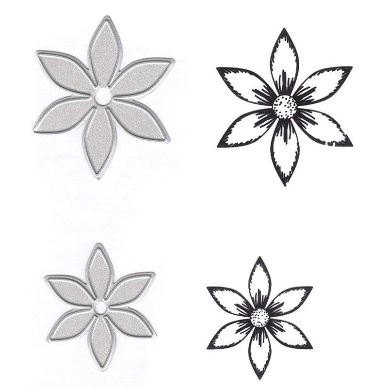 YaMinSanNiO Flower Craft Die Set Metal Cutting Dies Decor DIY New 2019 Scrapbooking for Card Making Embossing Stencil Paper in Cutting Dies from Home Garden