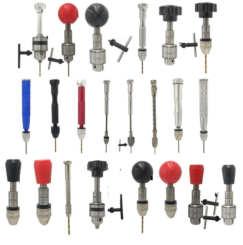 Aluminum Semi-Automatic Manual Hand Drill Chuck 20Pcs Micro Twsit ...