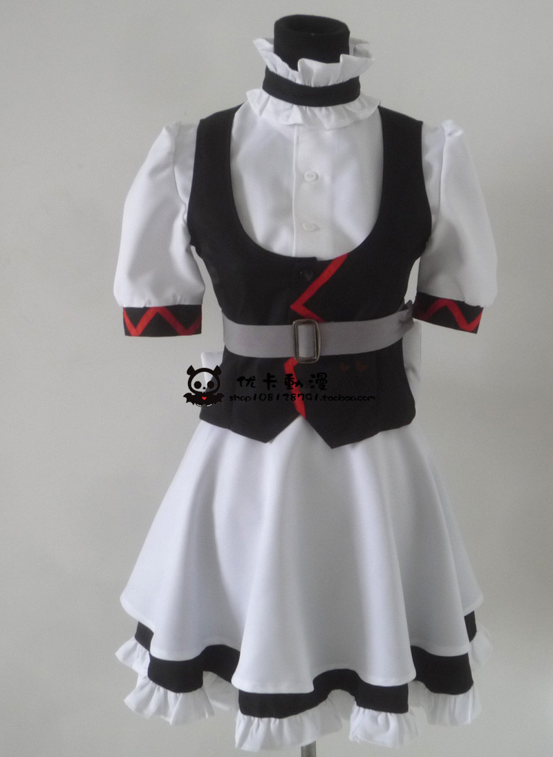 2016 Steins Gate Maid outfit Cosplay Costume Custom Made