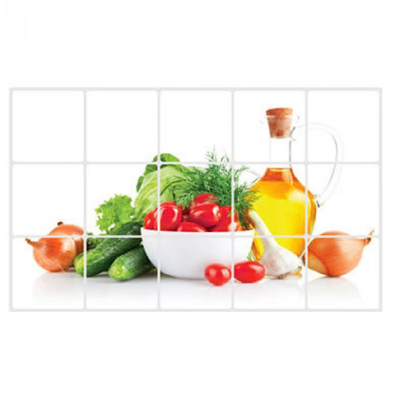 Kitchen Tiles Fruits Vegetables: Hot Sell DIY Waterproof Oil High Temperature Fruits And