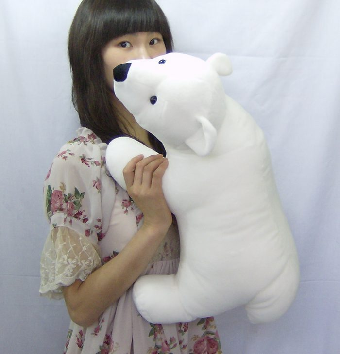 big lovely The polar bear toy white plush standing polar bear doll gift about 55cm 35cm lovely white brown polar bear plush toy lovely stuffed polar bear doll kids gift