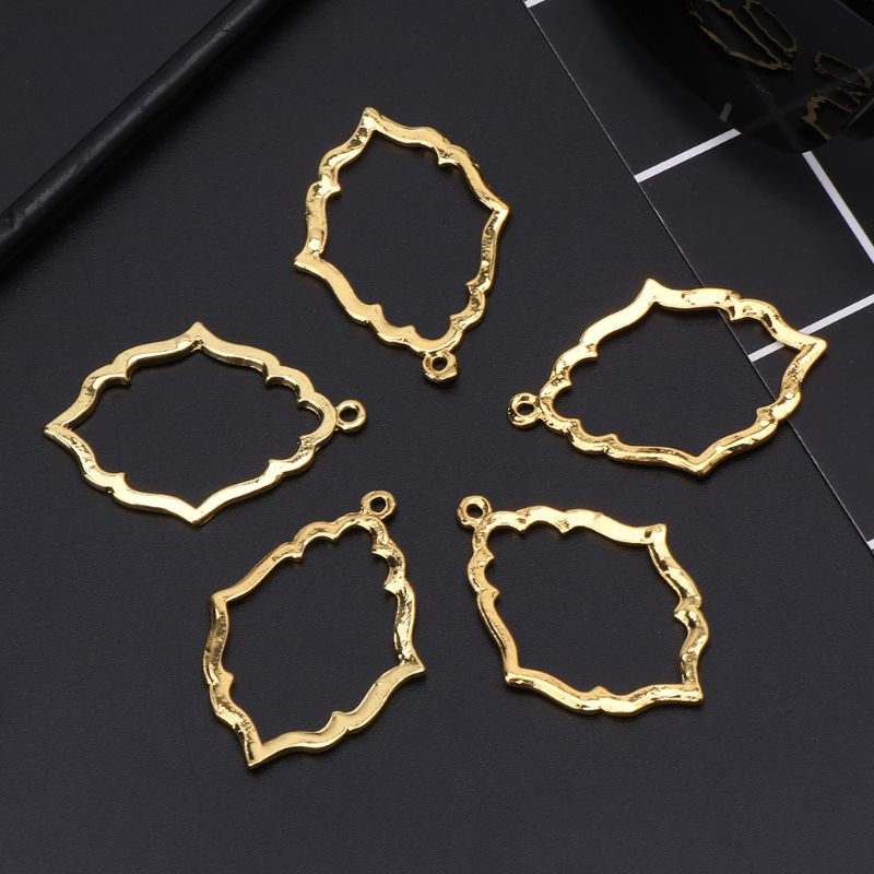 5 Pcs Magic Mirror Crystal Glue UV Resin Alloy Metal Frame DIY Crafts Handmade Necklace Pendant Jewelry Making in Jewelry Tools Equipments from Jewelry Accessories