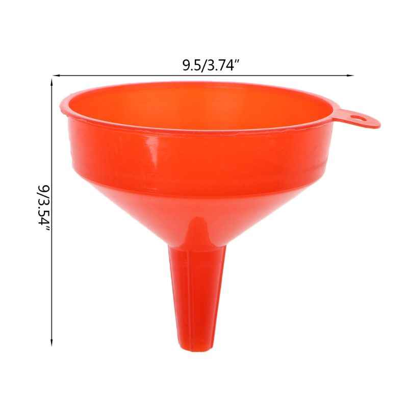 Qiuxiaoaa Plastic Filling Funnel Spout Pour Oil Tool Petrol Car Styling For Car Motorcycle Truck Vehicle Funnel Red