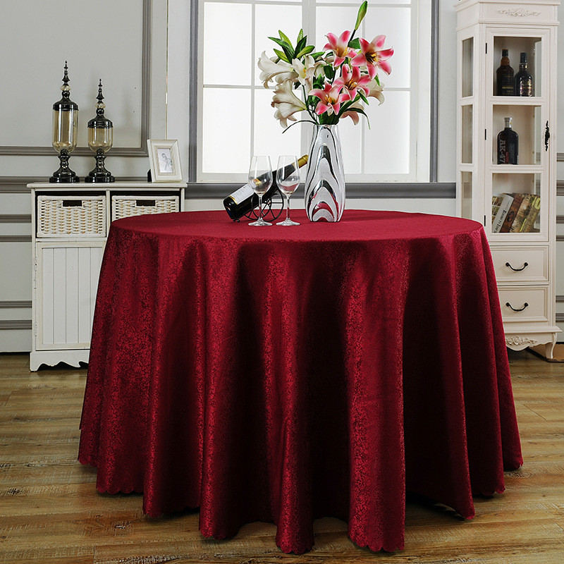 Wholesale round tablecloth polyester Rectangular overlay ...