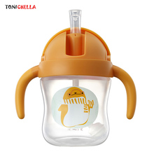 Малыш учится пить бутылки младенческие питьевые чашки кружки с рисунками животных учебная Детская Бутылочка детская посуда T0613