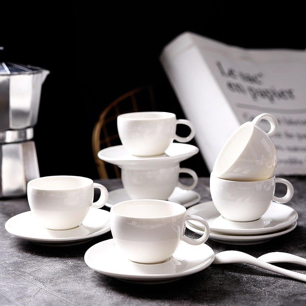 Tasses à café et soucoupe à expresso britanniques de qualité supérieure tasses à café en céramique tasse en porcelaine avancée pour cadeaux de mariage