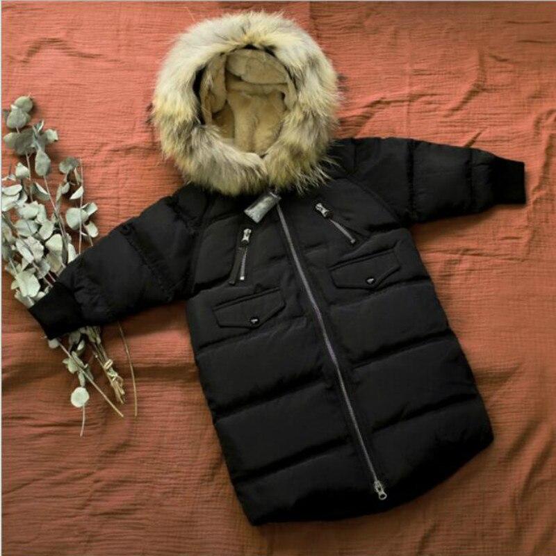 Одежда для девочек в Корейском стиле; Зимний пуховик с капюшоном для больших мальчиков; зимний детский хлопковый пуховик Mianfu на белом утино...
