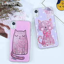 For iPhone XR Case Liquid Quicksand Cute Cat Cover For iPhone 5S SE 6 6s 7 8 Plus XR X XS XS Max Soft TPU Glitter Bottle Cases s kids bing bunny cartoon print hoodies coats for boys girls rabbit long sleeves hoody sweatshirts for children costumes