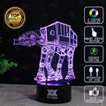 Star wars death star lámpara at-at bb-8 3d lámpara led novelty Luces de la noche del USB Luz de Vacaciones Regalo de Navidad Que Brilla Intensamente HUI YUAN Marca