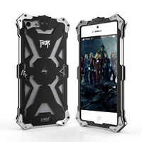 5 5S New Original Design Metal Shell Of Cool Metal Aluminum THOR IRONMAN Protection Phone Cover