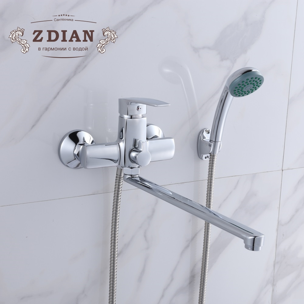 Bathtub mixer Hot and cold water Bathroom Mixer long nose outlet shower faucet Classic shower faucet Long trunk bathroom frap classic shower faucet long trunk bathroom bathtub mixer hot and cold water dual control f2227d