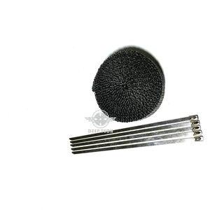 Image 2 - 15 m/50 pies x 1 pulgada tubo de escape negro envoltura de escape Turbo colector de calor cabezal envoltura de escape tubo de envoltura de escape envoltura de calor escudo de calor