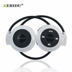 Image 3 - Kebidu TF + FM + MP3 Neckband אלסטי מקופל אוזניות אלחוטי אוזניות אוזניות דיבורית ספורט מיני Bluetooth 5 צבעים זמין