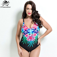 High Quality Plus Size Sexy Backless Floral One Piece Swimwear Summer 2 Color Women Sling Swimsuit Bathing suit