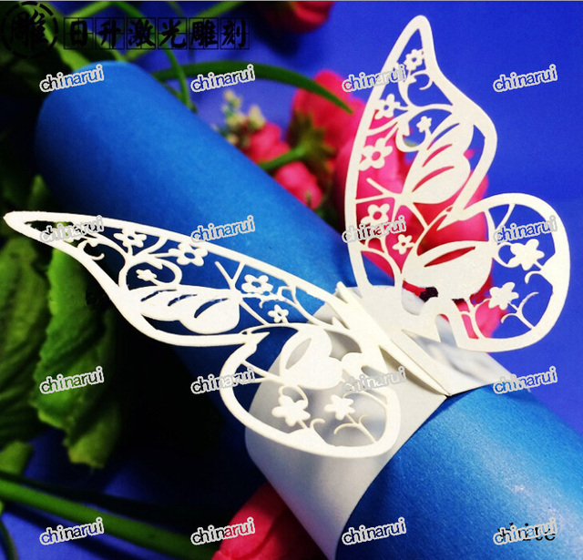 flor de mariposa de papel wrap toalla clip de decoracin de la mesa para el