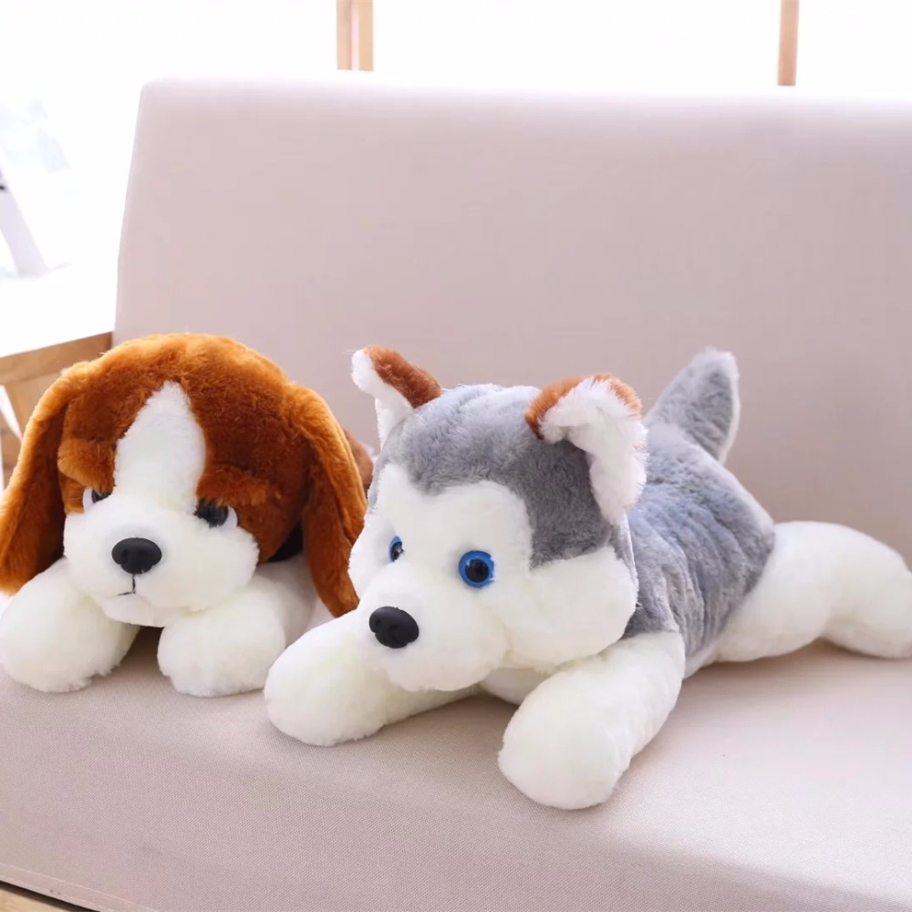 цена на 45cm Cute Dog Plush Toy Stuffed Cute Husky Dog Toy Kids Doll Kawaii Animal Gift Home Decoration Creative Children Birthday Gift