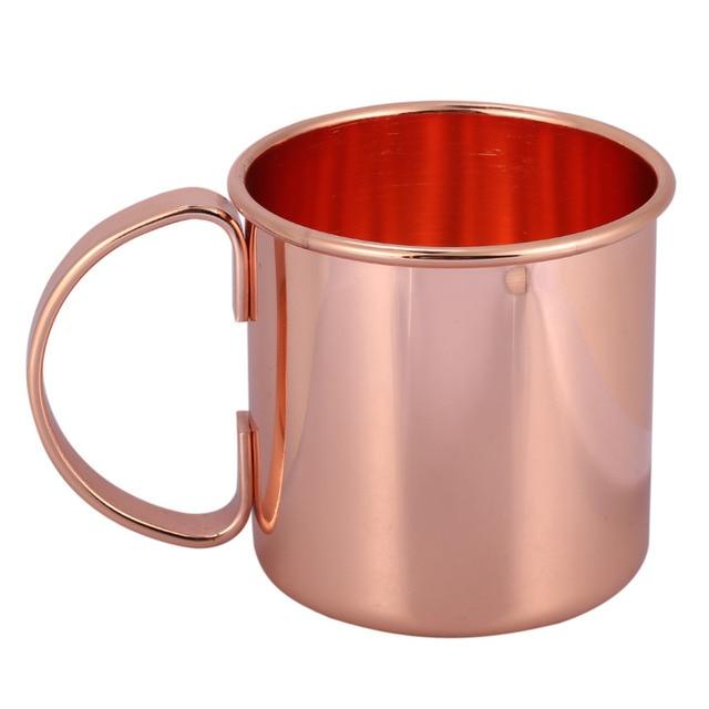 1 pz In Acciaio Inox Placcatura In Rame Birra Latte di Caffè Tazza di Tè in oro