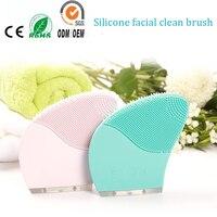 Deep pores limpieza cosmética pigmento eliminación defecto acústico eléctrico silicona Cara limpiador piel peeling dispositivo de belleza