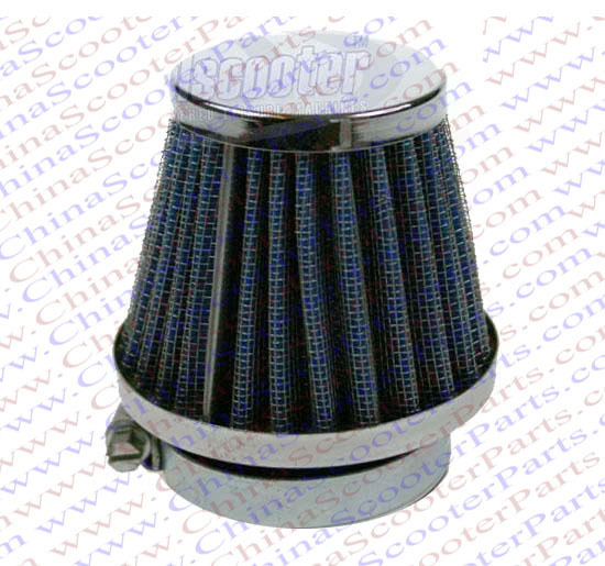 35MM Air filter Blue Grid Silver Cap Mini Moto Dirt Pit Bike ATV Quad Scooter Buggy Parts