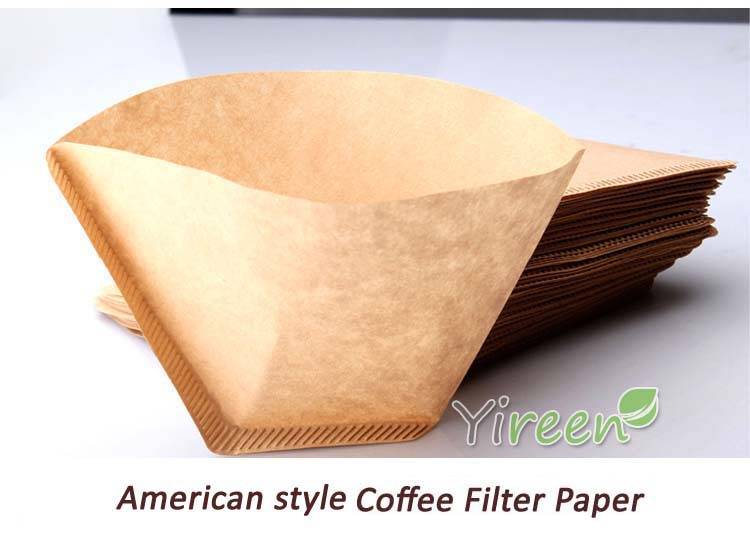 Us 66 100pcs Thickened Primary Color 102 Coffee Filter Paper Cone Filter Used For Drip Suspended Drop Coffee Machine 100pcsbox In Coffee