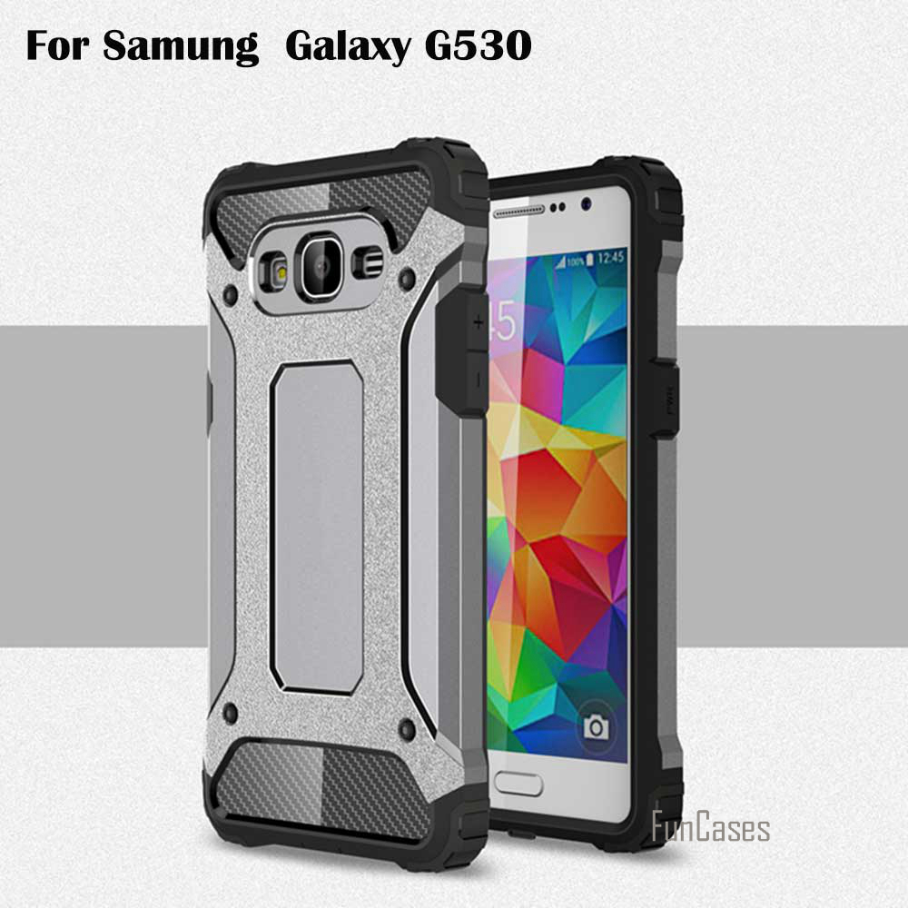Case For Samsung Galaxy G530 Grand Prime Cell Phone TPU PC Protective Phone Back Shell Hot 2in1 Diamond Armor Hybrid Case Cover