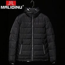 MALIDINU Brand New 2015 Winter Mans Thicken White Duck Down Jacket Coat Hood Parka European Size Free Shipping M13515