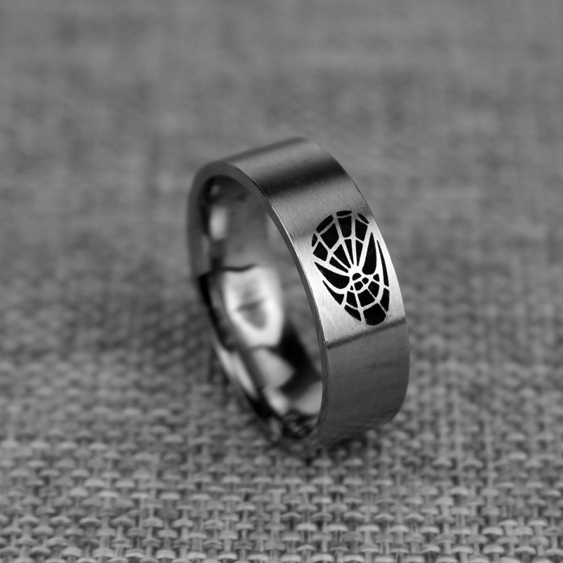 Fashion Punk Superhero ring spider man party stainless steel ring on