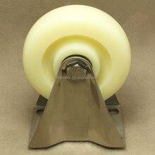 1PCS 4 stainless steel 304 industrial caster nylon wheel