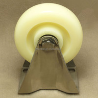 1PCS 4 Stainless Steel 304 Industrial Caster Nylon Wheel