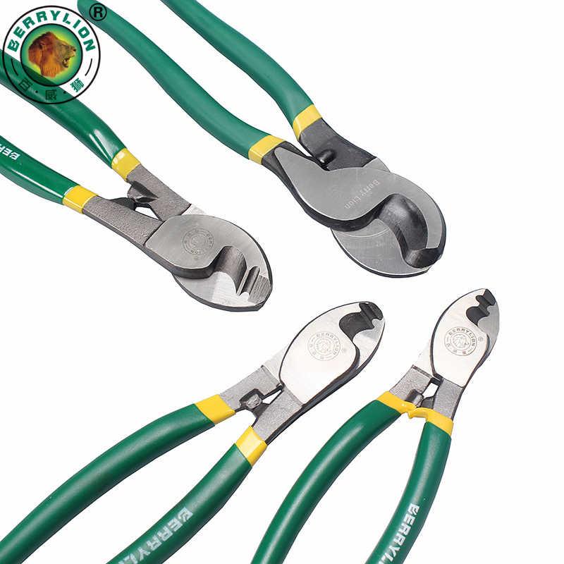 Обжимные плоскогубцы BERRYLION 6 ''/8''/10 ''для кабеля, инструмент для зачистки проводов