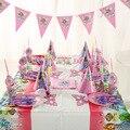 78 pc/lote princesa dos desenhos animados prato de papel copo de papel guardanapo bandeira crianças festa de aniversário decoração suprimentos festival favor 6 pessoas