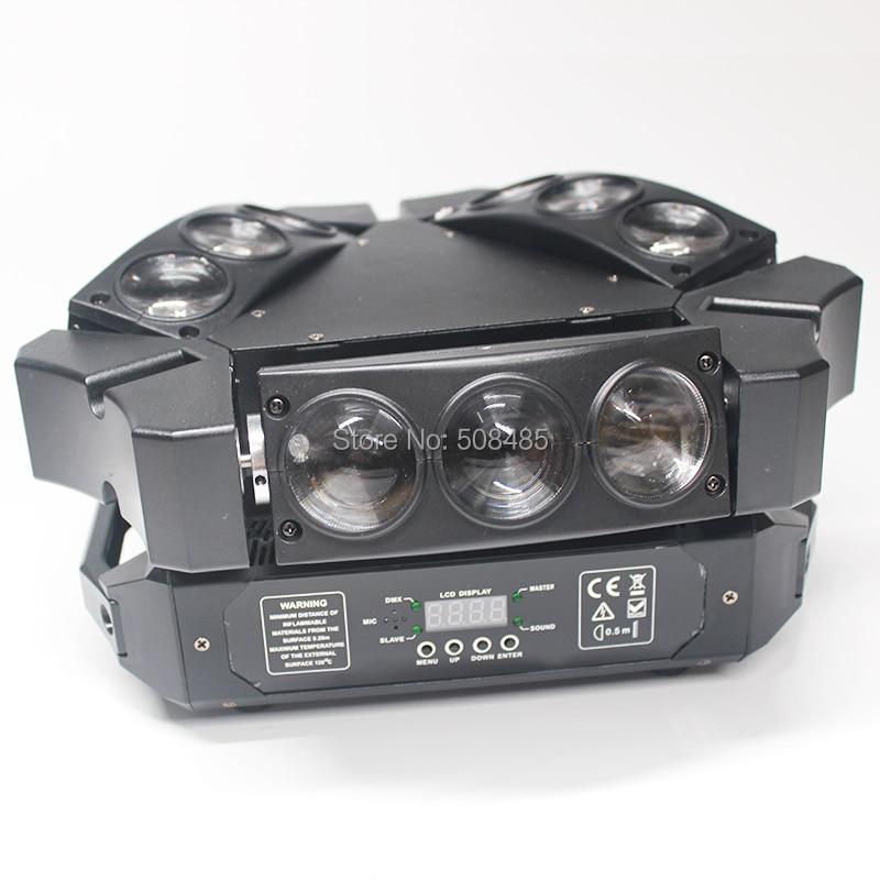 NYHET 9x12w RGBW 4in1 Spindel LED-stråle rörlig huvudljus Färgglad - Kommersiell belysning - Foto 4