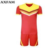 2017new Paintless Soccer Jerseys Men Boys Soccer Training Suits Jerseys Uniforms Football Kits Costume Customization SizeM