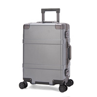 Aluminum Frame Unisex Travelling Luggage Case Spinner Suitcase Men Travel Rolling Trolley Luggage Bag On Wheels 20/24 Inch