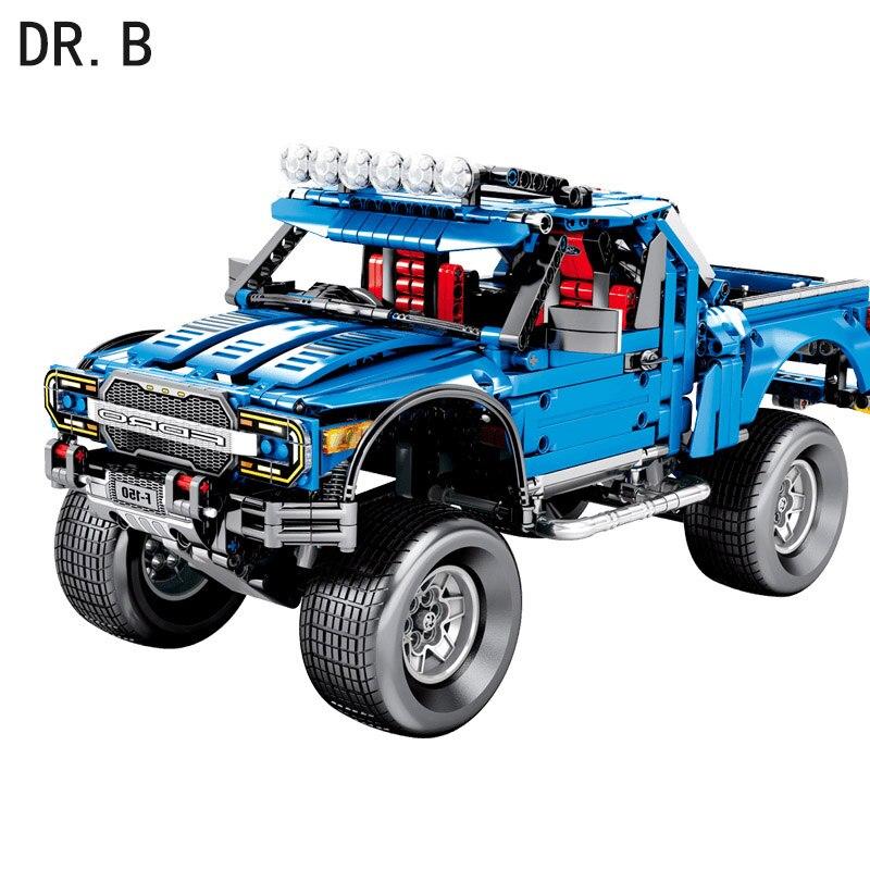 DIY New Technic Series F 150 Raptor Pickup Car Model Building Blocks Bricks Set Sembo 701970