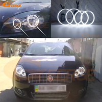 For Fiat Linea 2007 2015 Excellent angel eyes Ultra bright illumination CCFL Angel Eyes kit Halo Ring