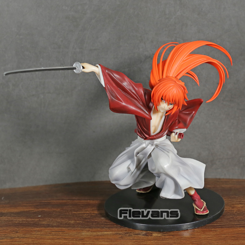 Samurai X Rurouni Kenshin Himura Kenshin PVC Figure Toy Collectible Figurine Model-in Action & Toy Figures from Toys & Hobbies